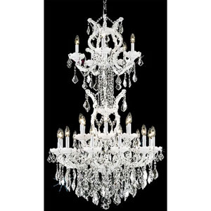 Maria Theresa White Twenty-Five Light Chandelier with Clear Royal Cut Crystals