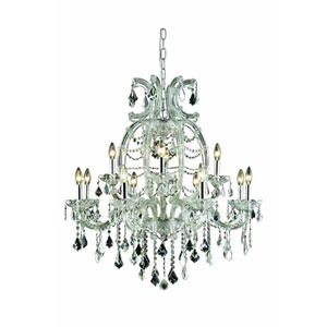 Maria Theresa Royal Cut Crystal Chrome 12 Light 35.4-in Chandelier