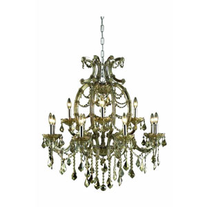 Maria Theresa Elegant Cut Crystal Gold 12 Light 35.5-in Chandelier