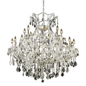 Maria Theresa Chrome Twenty-Four Light 36-Inch Chandelier with Royal Cut Clear Crystal