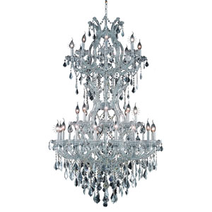 Maria Theresa Chrome Thirty-Four Light 36-Inch Chandelier with Royal Cut Clear Crystal