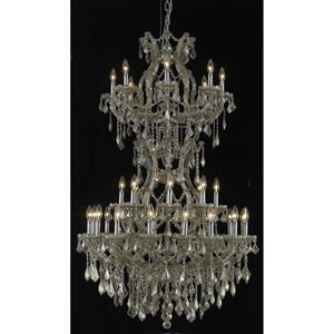 Maria Theresa Gold Chandelier with Swarovski Strass/Golden Teak Elements Crystal