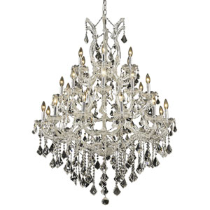 Maria Theresa Chrome Twenty-Eight Light Chandelier with Clear Royal Cut Crystals