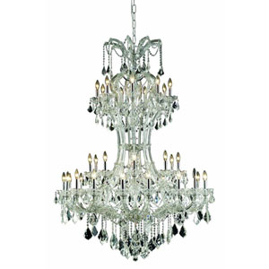 Maria Theresa Elegant Cut Crystal Chrome 36 Light 64-in Chandelier