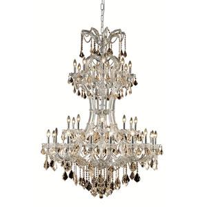 Maria Theresa Chrome 36-Light Chandelier with Swarovski Strass Crystal