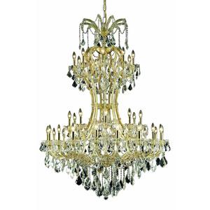 Maria Theresa Elegant Cut Crystal Gold 36 Light 64-in Chandelier