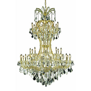 Maria Theresa Royal Cut Crystal Gold 36 Light 64-in Chandelier
