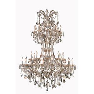 Maria Theresa Royal Cut Crystal Golden Teak 36 Light 64-in Chandelier
