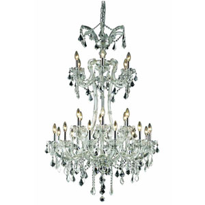Maria Theresa Elegant Cut Crystal Chrome 24 Light 50-in Chandelier