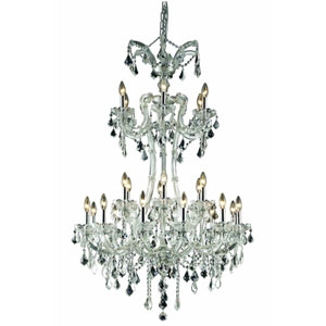 Maria Theresa Royal Cut Crystal Chrome 24 Light 50-in Chandelier