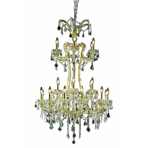 Maria Theresa Elegant Cut Crystal Gold 24 Light 50-in Chandelier