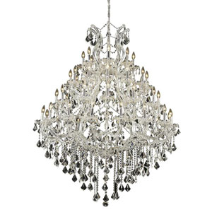 Maria Theresa Chrome 49-Light 46-Inch Chandelier with Swarovski Strass/Elements Crystal