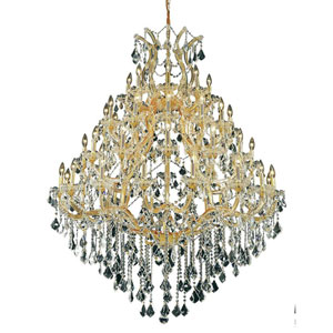 Maria Theresa Gold 49-Light Chandelier with Swarovski Strass/Elements Crystal