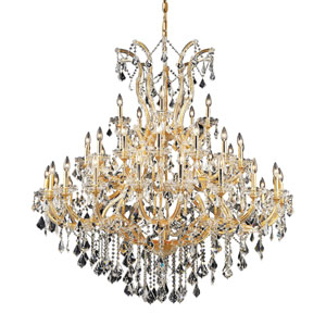 Maria Theresa Gold Forty-One Light 52-Inch Chandelier with Royal Cut Clear Crystal