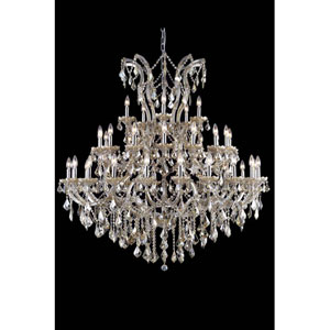 Maria Theresa Royal Cut Crystal Golden Teak 41 Light 54-in Chandelier