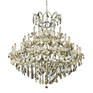 Maria Theresa Chrome 41-Light Chandelier with Swarovski Strass/Golden Teak Elements Crystal