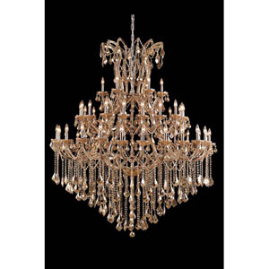 Maria Theresa Royal Cut Crystal Golden Teak 49 Light 72-in Chandelier