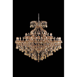 Maria Theresa Royal Cut Crystal Golden Teak 49 Light 60-in Chandelier