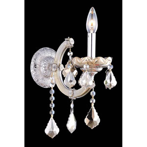 Maria Theresa Swarovski Strass Crystal Golden Teak One Light 12-in Wall Sconce