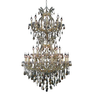 Maria Theresa Golden 34-Light Chandelier with Swarovski Strass/Golden Teak Elements Crystal