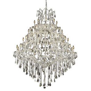Maria Theresa Chrome Forty-Nine Light 46-Inch Chandelier with Royal Cut Clear Crystal