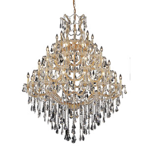 Maria Theresa Gold Forty-Nine Light 46-Inch Chandelier with Royal Cut Clear Crystal