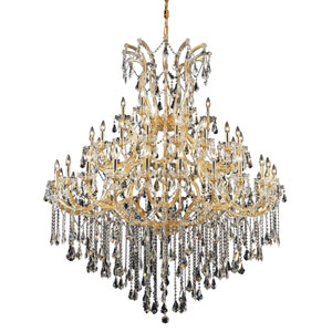 Maria Theresa Gold Forty-Nine Light 60-Inch Chandelier with Royal Cut Clear Crystal