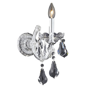 Maria Theresa Chrome One-Light 8-Inch Wall Sconce with Royal Cut Clear Crystal