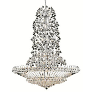 Sirius Chrome Forty-Three Light 48-Inch Pendant with Royal Cut Clear Crystal