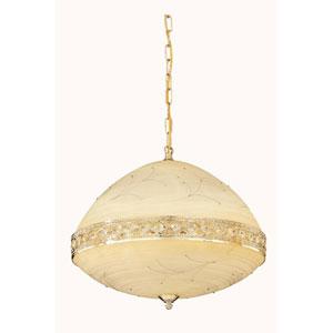 Italia Gold 20-Inch Six-Light Pendant with Swarovski Strass Crystal