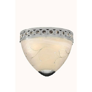 Italia Chrome Two-Light Wall Sconce with Swarovski Strass Crystal