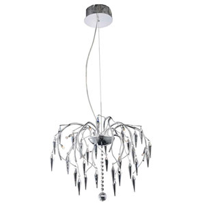 Amour Chrome Eight-Light Pendant with Elegant Cut Crystal