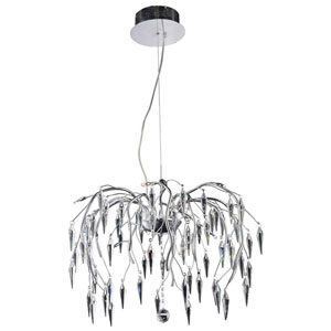 Amour Chrome 12-Light Pendant with Elegant Cut Crystal