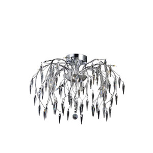 Amour Chrome 16-Light Chandelier with Elegant Cut Crystal
