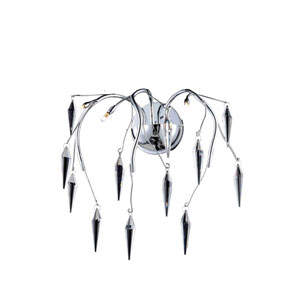 Amour Chrome Three-Light Wall Sconce with Elegant Cut Crystal