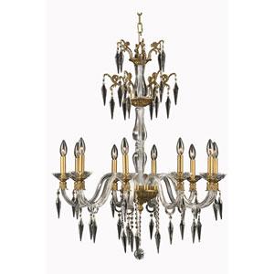 Grande French Gold 10-Light Chandelier with Swarovski Strass Crystal