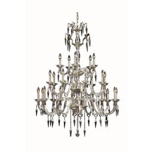 Grande French Gold 25-Light Chandelier with Elegant Cut Crystal