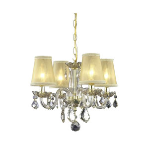 Rococo Golden Shadow Chandelier with Gold Shadow Royal Cut Crystal