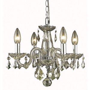 Rococo Golden Shadow Four-Light Chandelier with Golden Shadow/Champagne Royal Cut Crystals