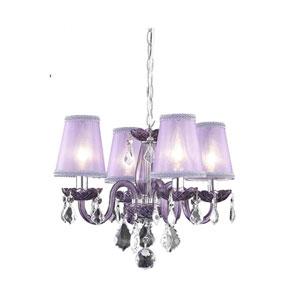 Rococo Purple Chandelier with Purple Royal Cut Crystal