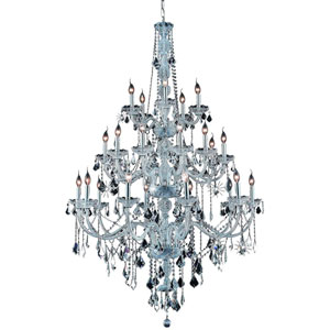 Verona Chrome Twenty-Five Light Chandelier with Clear Royal Cut Crystals