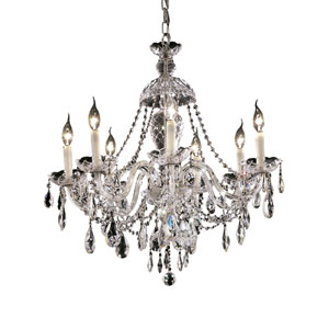 Alexandria Chrome Seven-Light 26-Inch Chandelier with Royal Cut Clear Crystal
