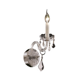 Alexandria Chrome One-Light 4-Inch Wall Sconce with Royal Cut Clear Crystal