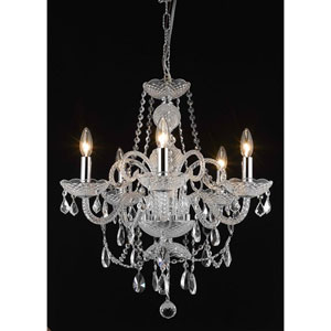 Princeton Chrome Five-Light 20-Inch Chandelier with Royal Cut Clear Crystal
