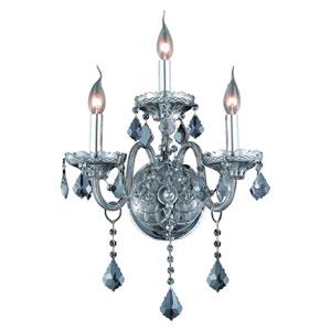 Verona Silver Shade Three-Light Sconce with Strass Swarovski Crystals