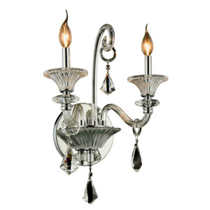 Aurora Chrome Two-Light Wall Sconce