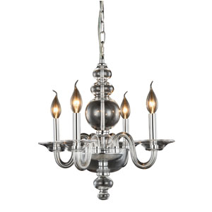 Champlain Chrome Four-Light Chandelier