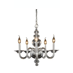 Champlain Chrome Five-Light Chandelier