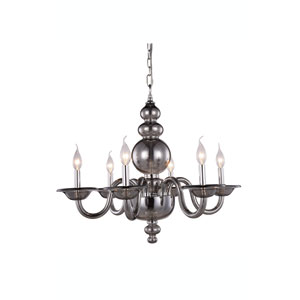 Champlain Silver Shade Six-Light Chandelier