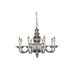Champlain Chrome Eight-Light Chandelier